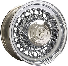 Hot Rod 52 All Chrome Wire Wheels