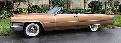Cadillac convertible with 15 X 7 inch Fleetwood 60 Truespoke wire wheels