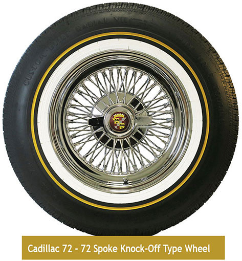 Truewire® 72-Spoke Knock-off type wire wheel with Vogue tire