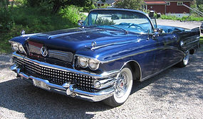1958 Buick with wire wheels