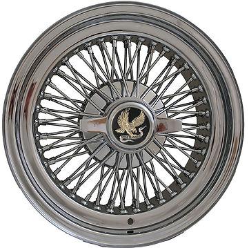 15 X 7 inch Truewire® 72-Spoke Cross-Lace STANDARD wire wheel