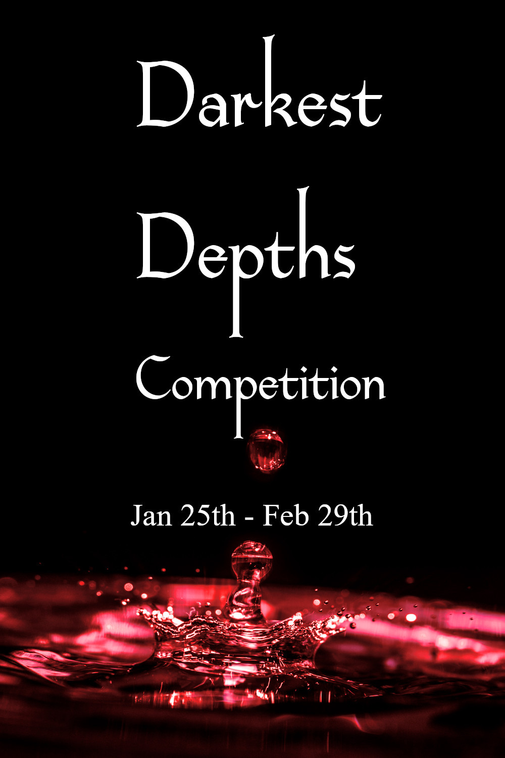 Darkest Depths Poetry and Fiction Competition Coffee, Book, and Candle
