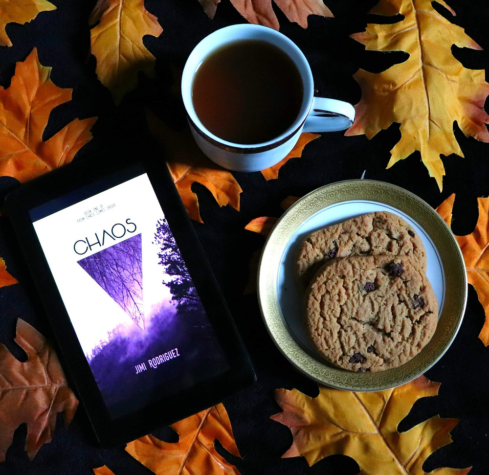 Book blog Coffee, Book, & Candle book review for fantasy book Chaos by indie author Jimi Rogriguez