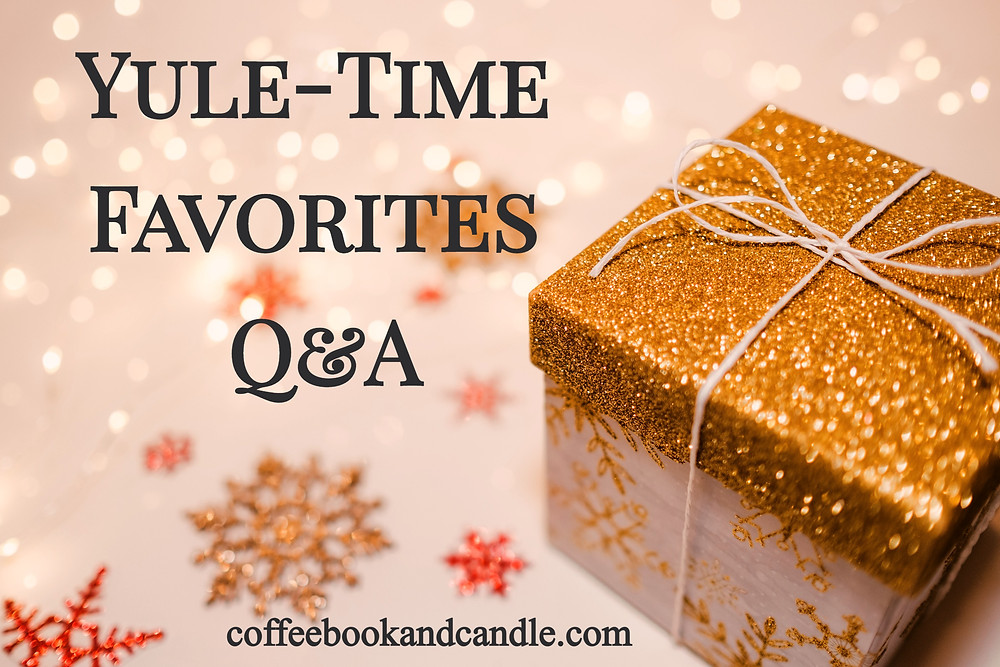 Yule-Time Favorites Q and A Coffee, Book, and Candle book blog