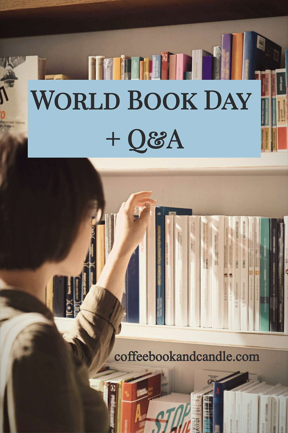 World Book Day Q&A Coffee, Book, and Candle