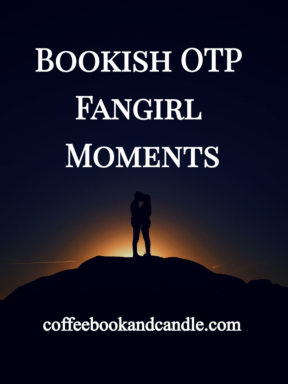Bookish OTP Fangirl Moments Coffee, Book, and Candle