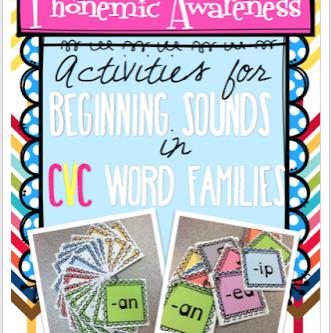 Phonemic Awareness: Activities for Beginning Sounds in CVC Words