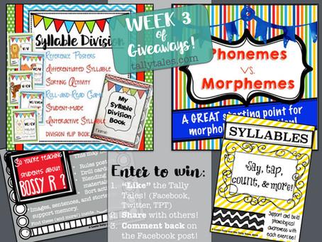 6 Weeks of Giveaways: Week 3