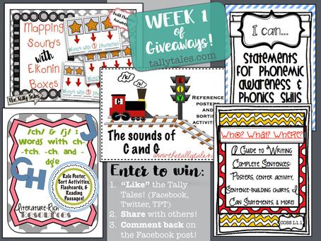 6 Weeks of Giveaways: Week 1