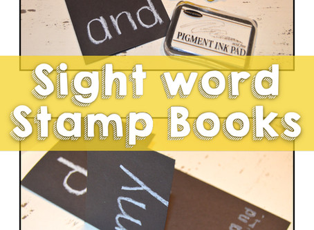 Sight Word Stamp Books