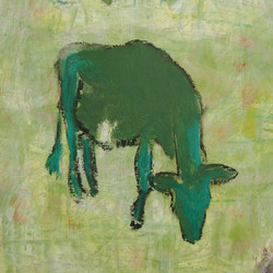 Green Cow Detail
