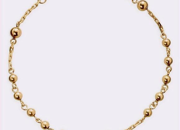 18 Karat Gold Rosary Bracelet