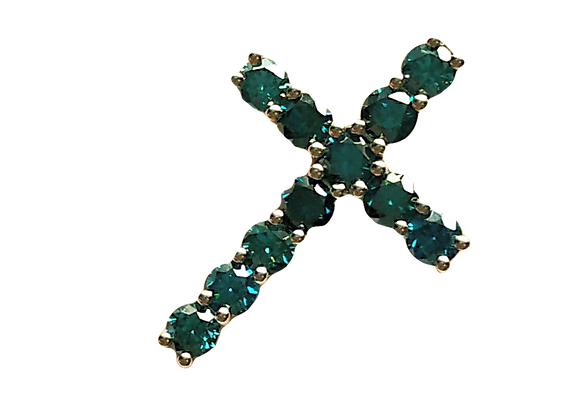 Blue Diamonds, 18 Karat White Gold