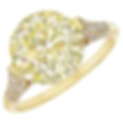 Fancy Yellow Round Diamond Ring