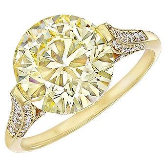 Fancy Yellow Round Diamond Ring