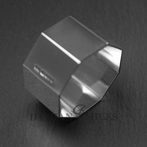 Octagonal Napkin Ring in, Hallmarked, Sterling Silver
