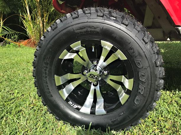 """12"""" Duro Desert tires on Vampire wheels"""