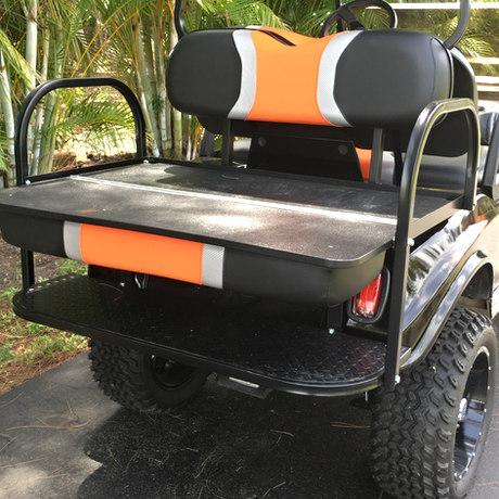 Utility rear flip seat