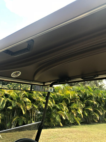 Handles in roof for easy access