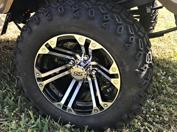 "12"" Sahara Classic tires on Specter wheels"