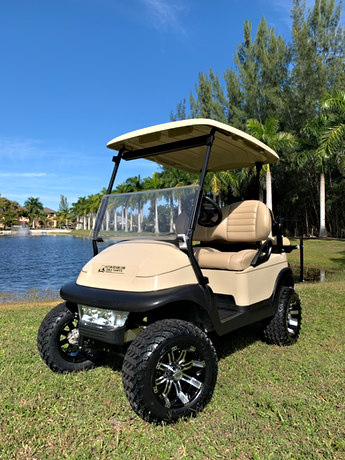 """2016/2017  Club Car Precedent with 6"""" lift kit, light bar, new wheels and tires, rear seat"""