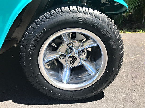 """New 10"""" Duro Tires with new Super Sport Godfather wheels"""