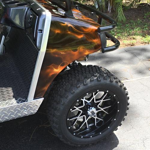 """14"""" Duro Desert tires on Vortex wheels"""