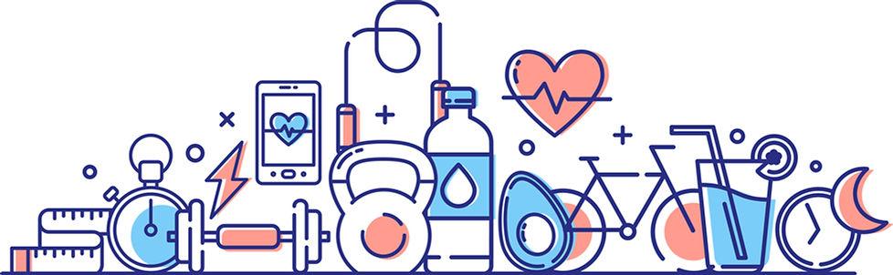 Healthy Lifestyle Illustration [Converte