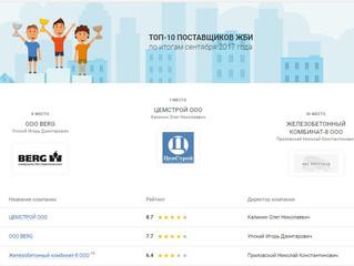 Первое место среди поставщиков ЖБИ Рязани в сентябре.