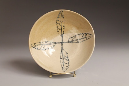 Feather Shallow Bowl