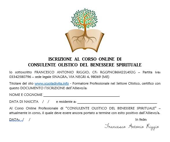 Iscrizione al Corso di Life Coach Spirit