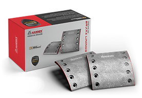HARDEX CV Brake Linings approved by EMARK ECE R90, LEAFMARK NSF & AMECA