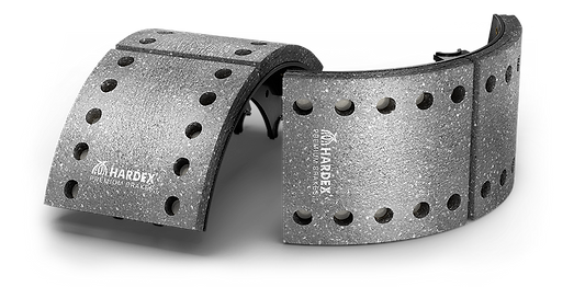 HARDEX CV Brake Shoes approved by EMARK ECE R90, LEAFMARK NSF & AMECA
