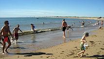 Grande plage de Sion pour les petits et les grands