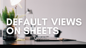 Setting Default Views on Sheets