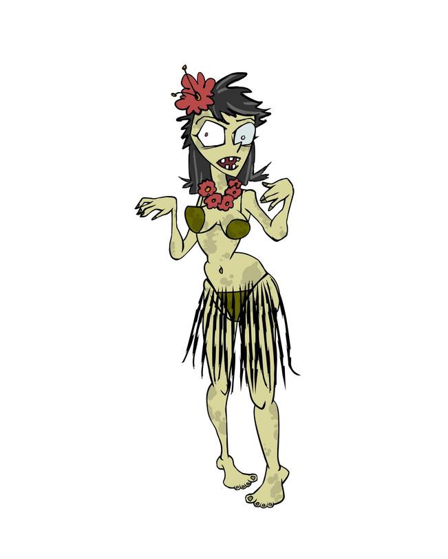 Zombie Hula Dancer