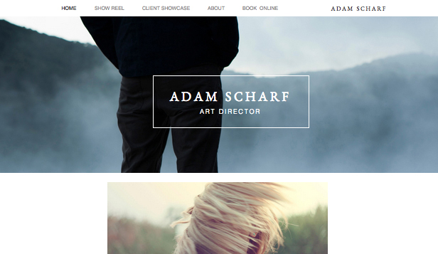 Portfolios Website Templates Art Director Portfolio
