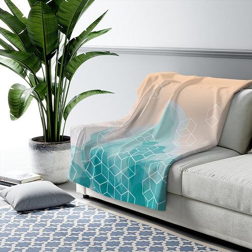 Abstract Design Cozy 😴 Sherpa Fleece Blanket