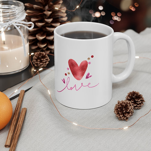 'Love' Ceramic Designer Mug 11oz