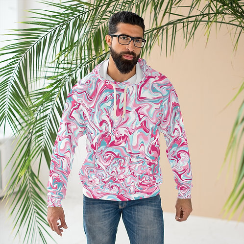 'Cool Marble Abstract Designer' AOP Unisex Pullover Hoodie