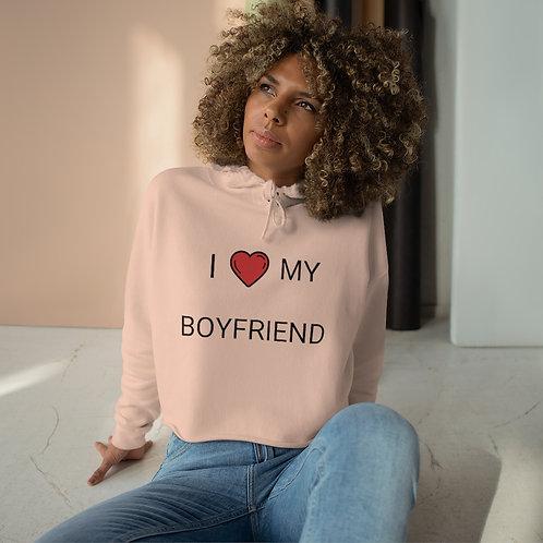 'I ❤ Boyfriend' Crop Hoodie