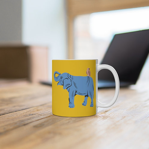 'Elephant Friend' Ceramic Mug