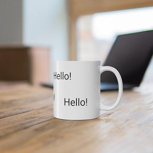 'Hello' Ceramic Mug 11oz