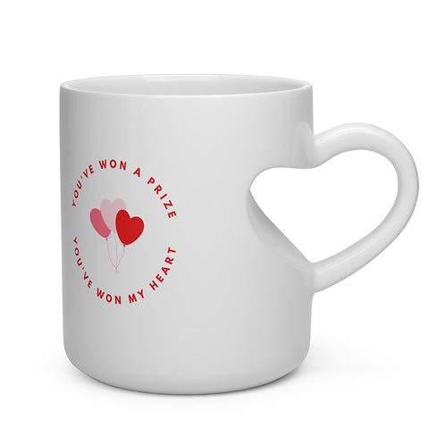 'You Have Won My Heart' Heart Shape Mug
