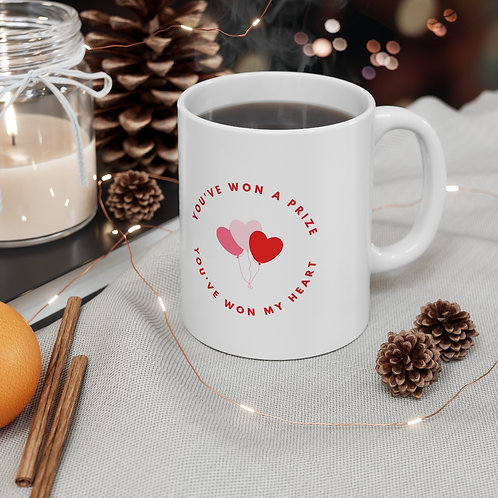 'You Have Won my Heart' Ceramic Designer Mug 11oz