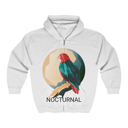 'NOCTURNAL' Unisex Heavy Blend™ Full Zip Hooded Sweatshirt