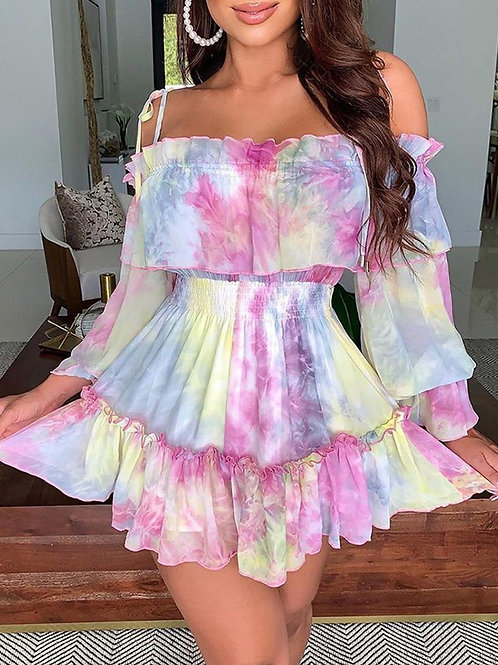 All Bright! Off the shoulder dress