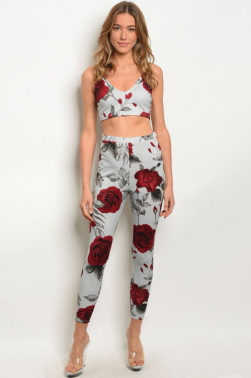 A Rose is Still a Rose -Bandeau and Leggings Set