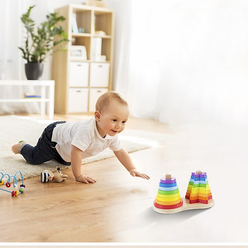 Rainbow Stacking Ring Tower Stapelring Blocks