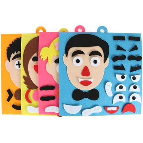 DIY Toys Emotion Change Puzzle